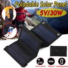 5V30W Solar Panel Folding Portable Power Charger USB Travel Phone Charge Camping