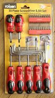 30 piece screwdrivers and bit set .Rolson Tool set very handy + free uk delivery