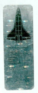 3D Silver Holographic Bookmark Space Shuttle Orbiter Space Rocket Gift x Man Him