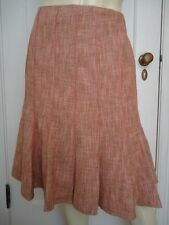 ANN TAYLOR PETITES Cotton/Wool Gored Tweed Skirt 12P NWOT Lined Flared CLASSY!