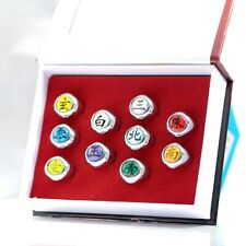 Naruto Akatsuki Rings 10 Piece Set In Box Anime Cosplay Costume Fashional #chest