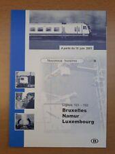 SNCB (NMBS) - lignes 161-162 - nouveaux horaires 10 juin 2001 (dépliant)