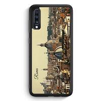 Panorama Rom Roma Samsung Galaxy A40 Silikon Hülle Motiv Design Skyline Silho...