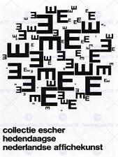Publicité exposition culturelle escher collection pays-bas imprimé graphique BB2257B