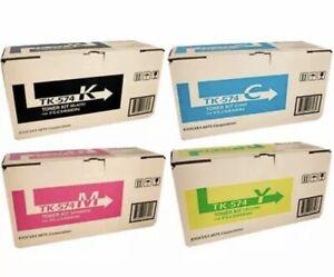 SET Kyocera Genuine TK574K TK574C TK574M TK574Y Toners For FSC5400DN P7035CDN