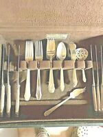 GORHAM HUNT CLUB STERLING SILVER FLATWARE SET WITH SERVERS NO MONO'S