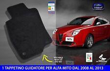 Tappetini Alfa mito 2008 > 2013 1 tappetino guidatore tappeti auto romeo per 1