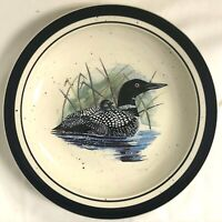 FOLKCRAFT STONEWARE SCOTTY Z LOON LAKE DINNER PLATE GREAT REPLACEMENT