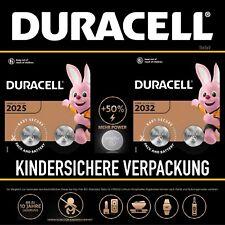 Duracell CR2025 CR2032 LR54 Piles Pile Bouton 1,5 -3V Volt Masse Blister