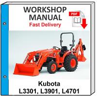 KUBOTA L3301 L3901 L4701 TRACTOR SERVICE REPAIR WORKSHOP MANUAL