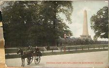 Irish Postcard PHOENIX PARK Wellington Jaunting Car 1909 Dublin Ireland Signal