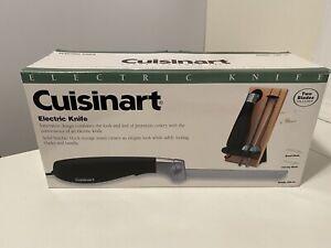 Cuisinart CEK-40 Electric Knife 2 Blades & Butcher Block NEW