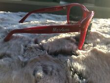 Moschino Festival Sunglasses Red Love Sweet Heart Aviators Retro Rare Free P&P