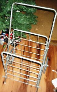 Folding Steel Shopping & Laundry Cart W/ Wheels