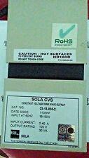 SOLA 23-13-030-2 CONSTANT VOLTAGE TRANSFORMER HARMONIC NEUTRALIZED TYPE CVS