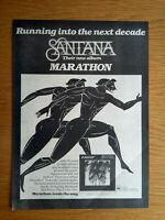 "SANTANA MARATHON 10"" x 15"" FULL PAGE MAGAZINE ADVERT 1979 ROCK POSTER"