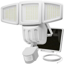 Waterproof Solar Light, 182LED Outdoor Garden Yard Motion Sensor Wall Lamp White