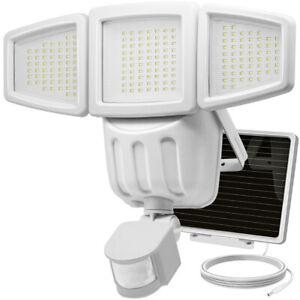 Waterproof Solar Light, 182LED Outdoor Garden Yard Motion Sensor Wall Lamp White
