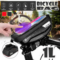 Universal Bike Bicycle Bag Phone Holder Front Frame Pouch Mount Case Waterproof