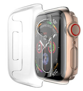 Case for Apple Watch (SERIES 4, 40mm) - Clear Hard Shell Screen Guard Cover