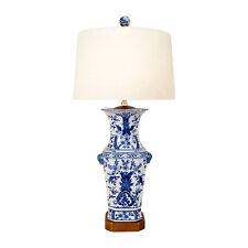 """Chinese Blue and White Porcelain Vase Chinoiserie Floral Motif Table Lamp 26.5"""""""
