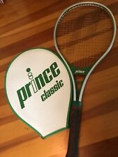 1982 vtg Prince Aluminium Over Sized Tennis Racket 4 3/8 Cover CRACKED Man Cave