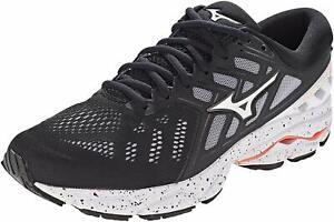 Mizuno Womens Wave Ultima 11 Running Shoes, Black/White - 4 UK