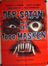 SATAN MIT DEN TAUSEND MASKEN (Kinoplakat / Filmplakat '58) - ROBERT H. HARRIS