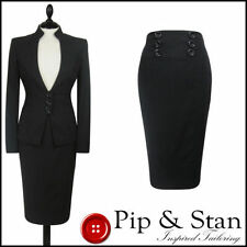 Knee Length Patternless Petite Suits & Tailoring for Women