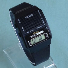 Square English Talking Watch Electronic Sports Watches With Alarm Low Vision