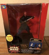 1999 Lucasfilm Star Wars Episode 1 Darth Maul Action Figure Talking Bank In Box!