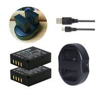 Np-w126s batería dual cargador USB 2x batería 1140mah np-w126s para Fujifilm cámara