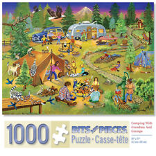 Bits & Pieces 1000 Piece Puzzle-Camping With Grandma and Gramps-by Sandy Rusinko