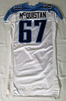 #67 Pat McQuistan of Tennessee Titans NFL Game Issued Jersey