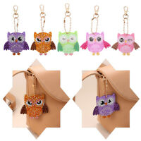 Special Shaped Full Drill Cross Stitch Keyring Owl Keychain Diamond Painting
