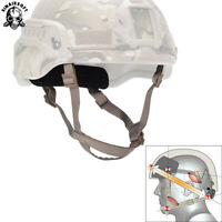 Tactical MICH ACH Helmet Retention System H-Nape Chin Strap Airsoft Hunting TAN