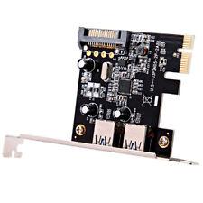 USB 3.0 Erweiterungskarte Externe 2-Port-PCI-E PCI Express 15-poliger SATA K7W3