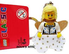 LEGO FATA PRINCIPESSA ANGELO portachiavi con ORO Wings PORTACHIAVI NUOVO
