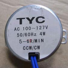 New Stock Synchronous Synchron Motor 50/60Hz AC 110V 4W 5/6RPM CCW/CW J96J