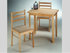 CLASSIC DESIGNED 3PC PACK SNACK SET-NATURAL FINISH WOOD TABLE AND CHAIR-ASDI