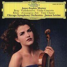 Alban Berg: Violinkonzert; Wolfgang Rihm: Gesungene Zeit ANNE SOPHIE MUTTER LP