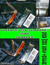 Schrade 98WC Knife USA Made Woodcraft Trapper W/Original Packaging & Paperwork