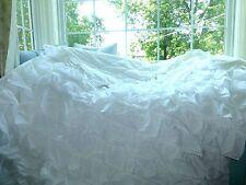 POTTERY BARN PB TEEN Twin Size RUFFLED White RUFFLICIOUS Quilt DUVET COMFPRTER