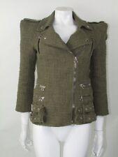 Balmain Green Blazer Jacket Size 38 UK 10