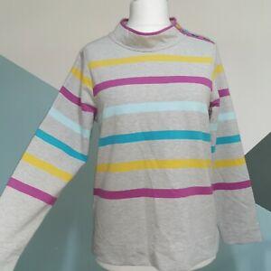 LAURA ASHLEY Jumper size uk 12 Top grey straps Cotton  button