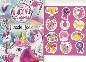 Set Children's Unicorn Colouring Puzzle Book Stickers Activity Kids Girls Pony