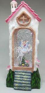 Chloes Garden Fairy Village Light Up Glitter Sparkling Lantern - Unicorn Pink