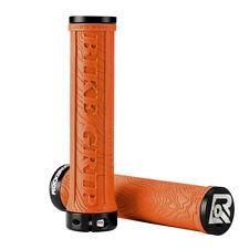 ROCKBROS Cycling Bike Bicycle Rubber Handlebar Grips Lock Anti-slip Orange