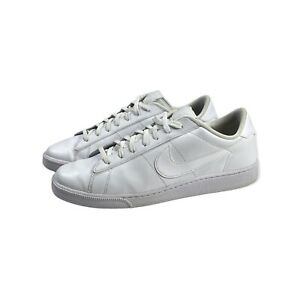 Nike Mens Tennis Classic CS White Low Lace-Up Shoe 683613-104 Size 12