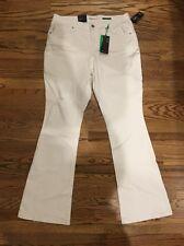 Style&Co. White Size 12 Mid Rise Curvy Fit Flare Leg White Denim Pants